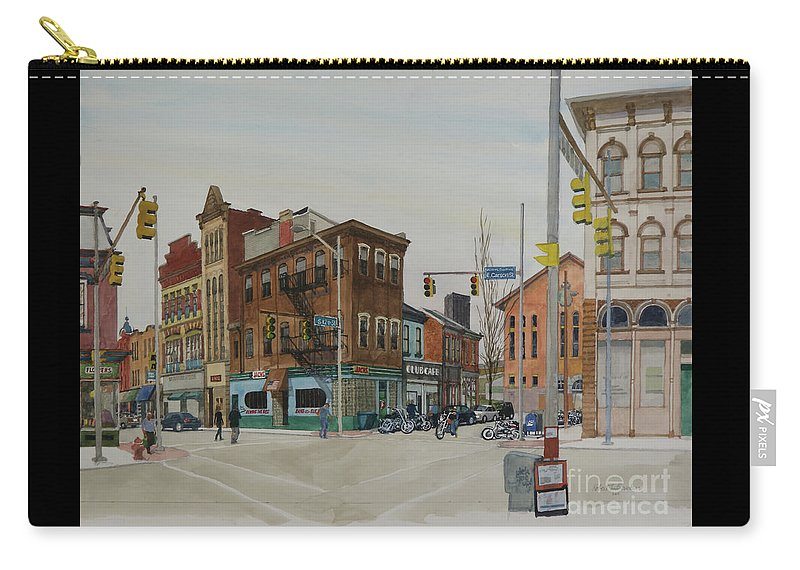 Pittsburgh Carry-all Pouch featuring the painting Carson Street Southside Pittsburgh by Robert Bowden