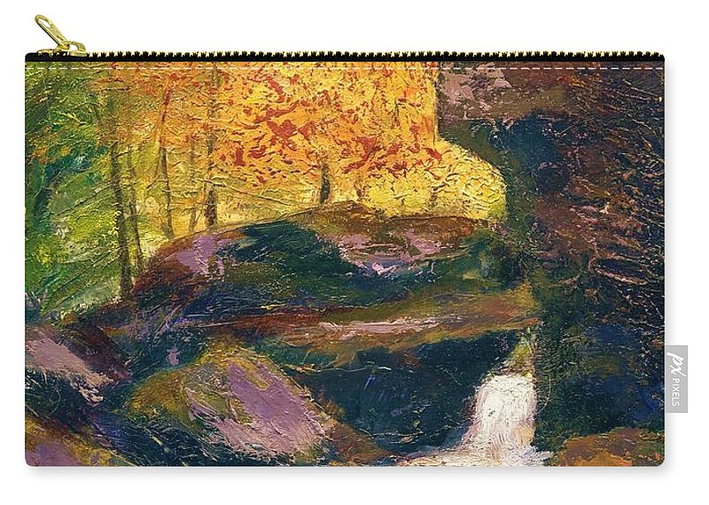 Kentucky Carry-all Pouch featuring the painting Carter Caves Kentucky by Gail Kirtz