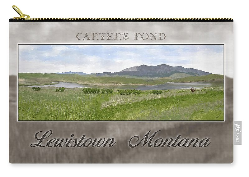 Pond Carry-all Pouch featuring the digital art Carter's Pond by Susan Kinney