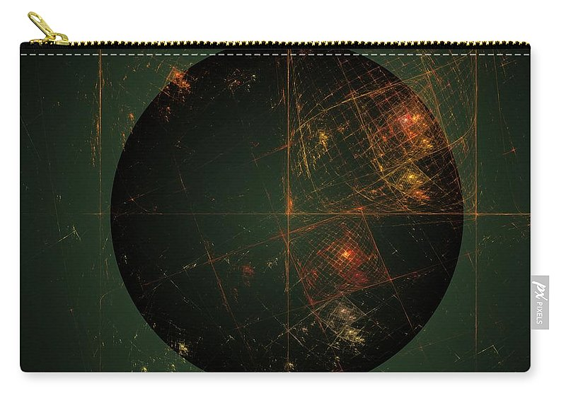 Digital Painting Carry-all Pouch featuring the digital art Cartesian Doodle by David Lane