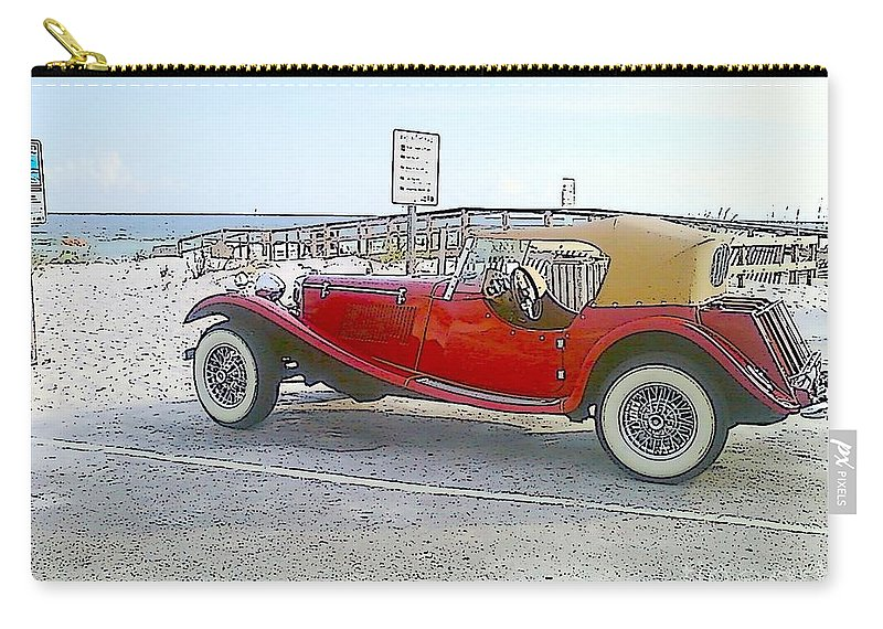 Cartoon Carry-all Pouch featuring the photograph Cartoon Car by Michelle Powell