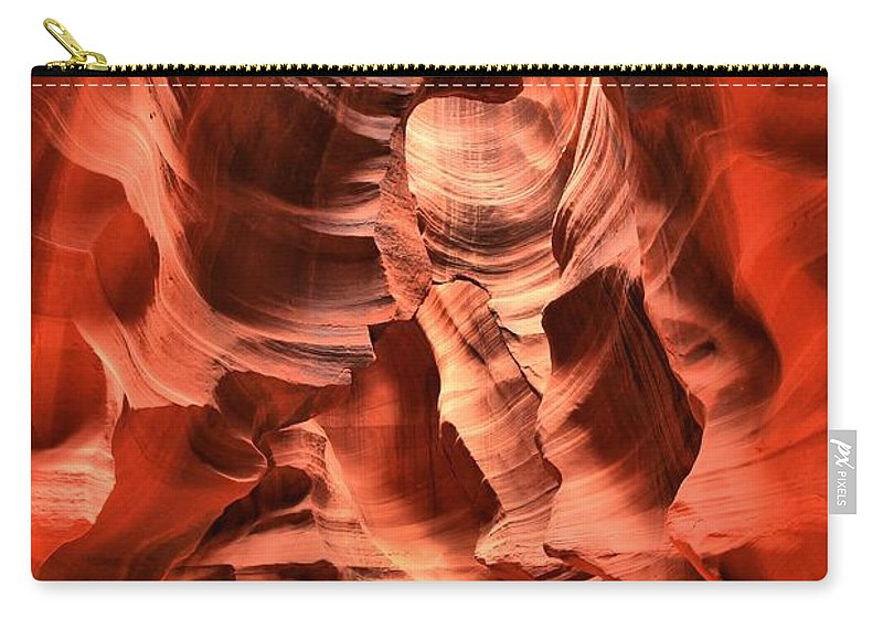 Antelope Canyon Carry-all Pouch featuring the photograph Carved Canyon Wals by Adam Jewell
