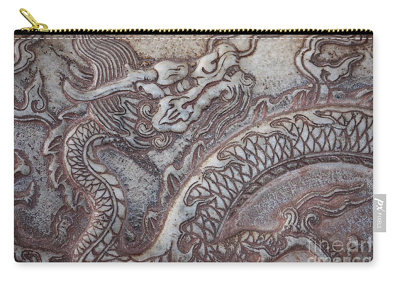 Chinese Dragon Carry-all Pouch featuring the photograph Carved Dragon by Carol Groenen