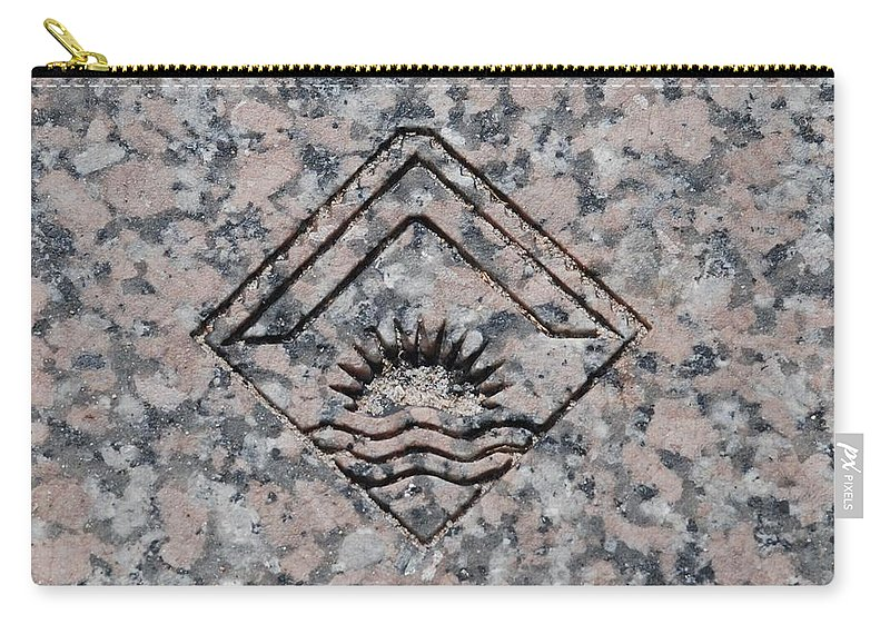 Sunset Carry-all Pouch featuring the photograph Carved Sunset by Rob Hans