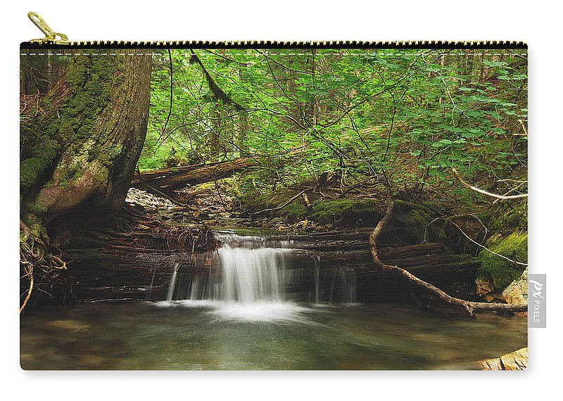 Landscape Carry-all Pouch featuring the photograph Cascade Happy Trail by Michael Peychich