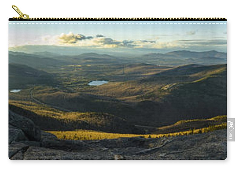 Hiking Carry-all Pouch featuring the photograph Cascade Mountain Sunset by Brad Wenskoski