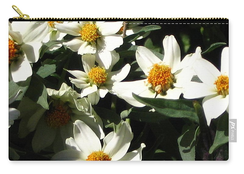 Floral Carry-all Pouch featuring the photograph Cascade Of White Flowers by Line Gagne