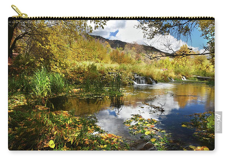 Cascad Springs Carry-all Pouch featuring the photograph Cascade Springs Large Pool by Ron Brown Photography