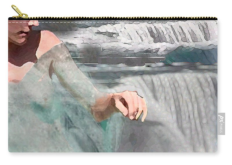 Waterscape Carry-all Pouch featuring the digital art Cascade by Steve Karol