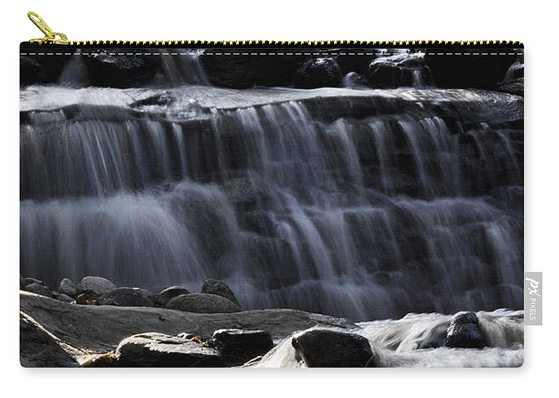 Clay Carry-all Pouch featuring the photograph Cascading Falls by Clayton Bruster
