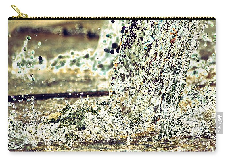 Water Carry-all Pouch featuring the photograph 10196 Cascading Water 01b by Colin Hunt