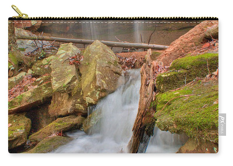 Water Carry-all Pouch featuring the photograph Cascading Waterfall by Douglas Barnett
