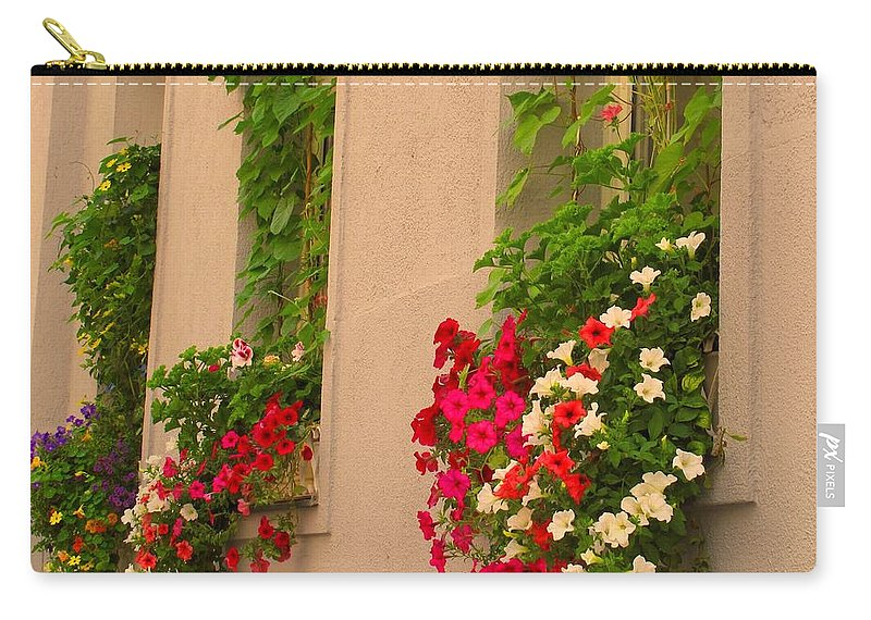 Flowers Carry-all Pouch featuring the photograph Cascading Windows by Ian MacDonald