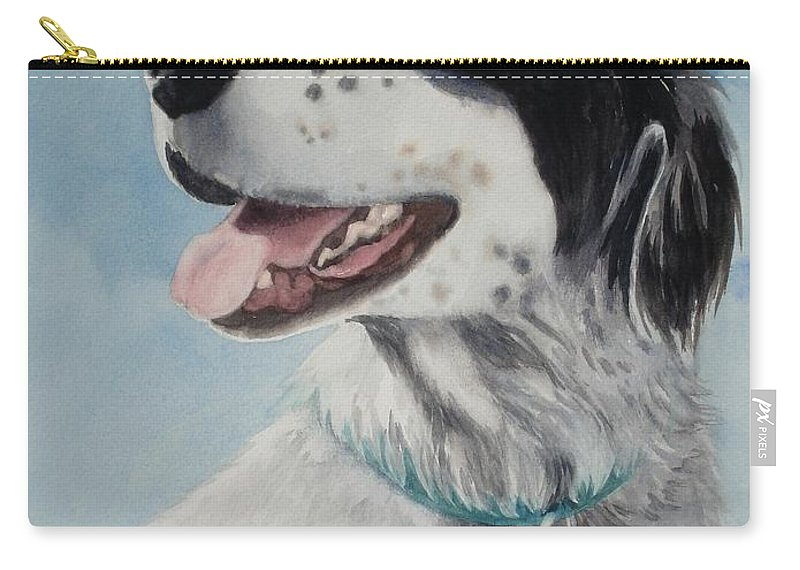 Dog Carry-all Pouch featuring the painting Casey by Marilyn Jacobson