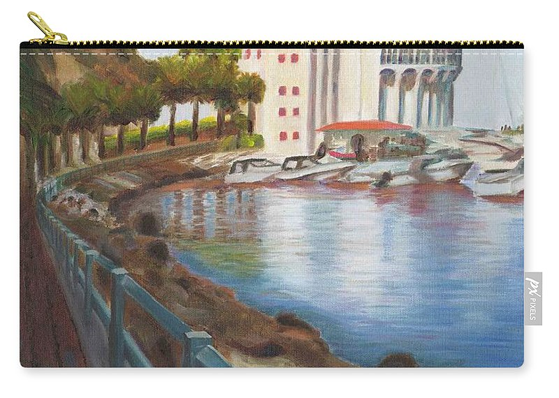 Casino Carry-all Pouch featuring the painting Casino In Avalon by Nicolas Nomicos