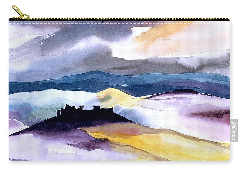 Water Carry-all Pouch featuring the painting Castle by Anil Nene