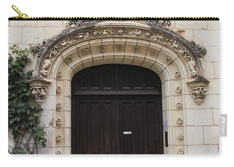Door Carry-all Pouch featuring the photograph Castle Entrance Door by Christiane Schulze Art And Photography