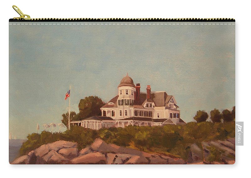 Castle Hill Newport Ri Carry-all Pouch featuring the painting Castle Hill Newport Ri by Betty Ann Morris