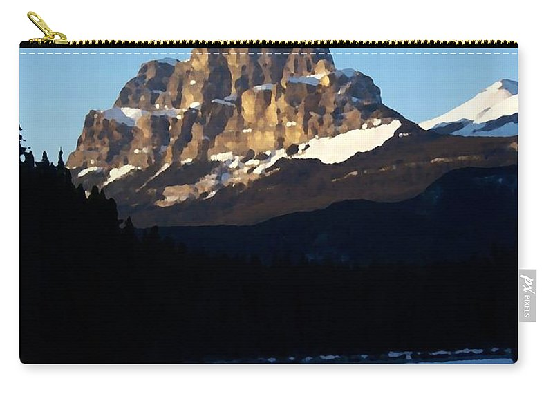 Ice Carry-all Pouch featuring the photograph Castle In The Sky by Greg Hammond