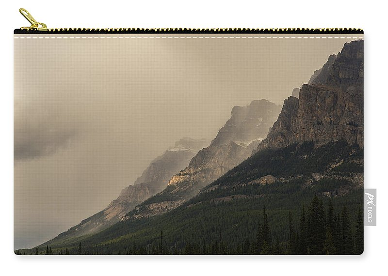 Castle Mountain Carry-all Pouch featuring the photograph Castle Mountain by Alex Lapidus