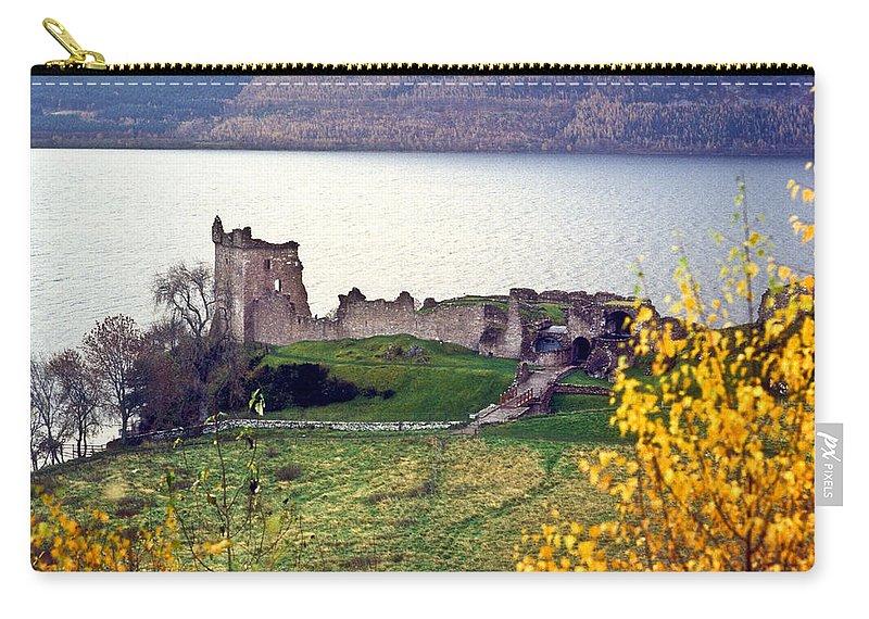 Castle Carry-all Pouch featuring the photograph Castle Ruins Scotland by Douglas Barnett