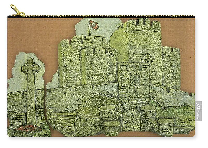 Manx Carry-all Pouch featuring the ceramic art Castle Rushen by Corey Jenny