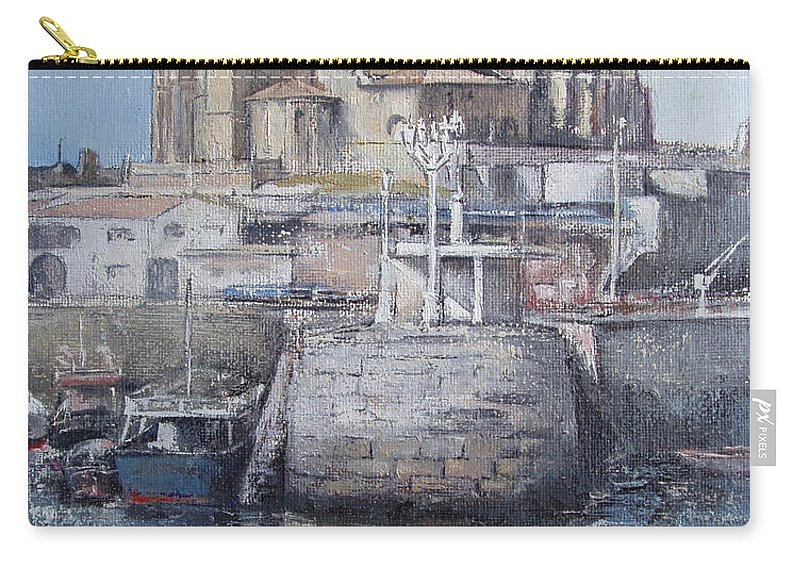 Castro Carry-all Pouch featuring the painting Castro Urdiales by Tomas Castano