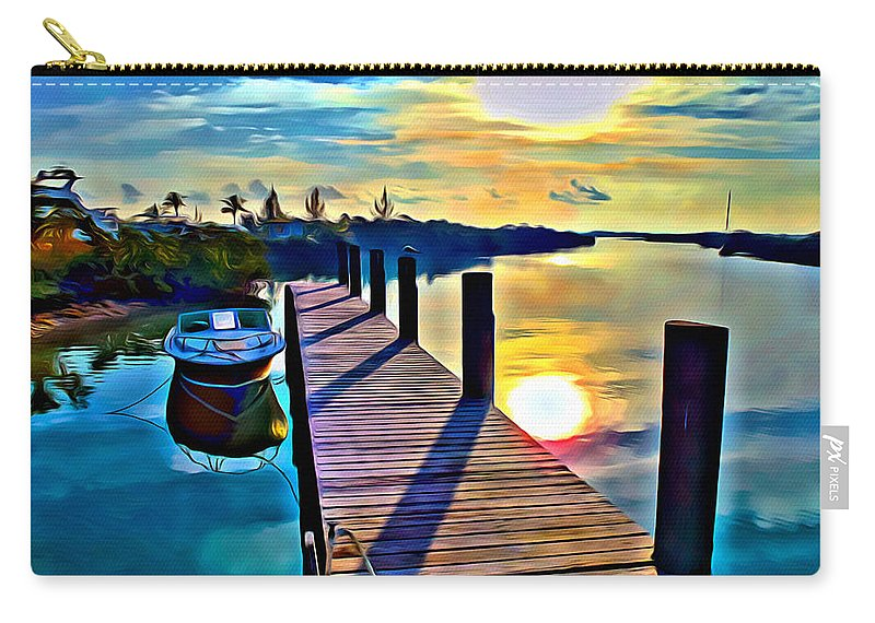 Cat Island Carry-all Pouch featuring the digital art Cat Island by Anthony C Chen