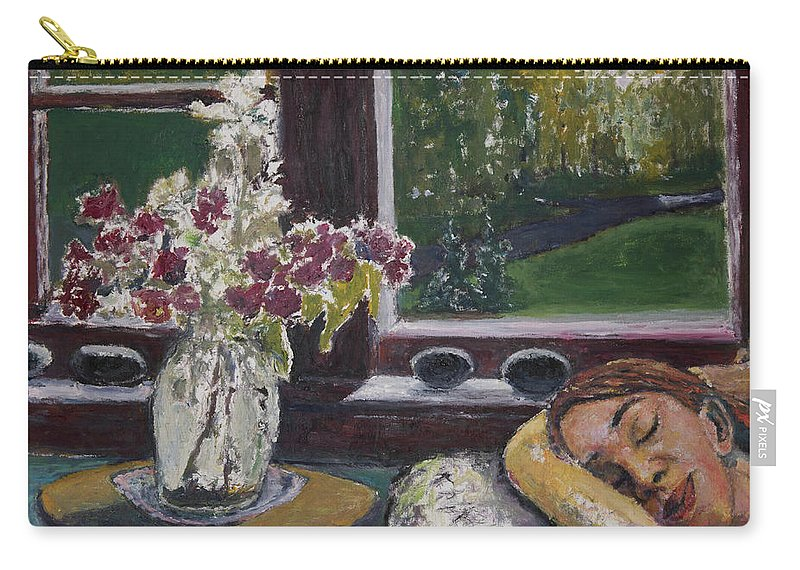 Nap Carry-all Pouch featuring the painting Cat Nap by Craig Newland