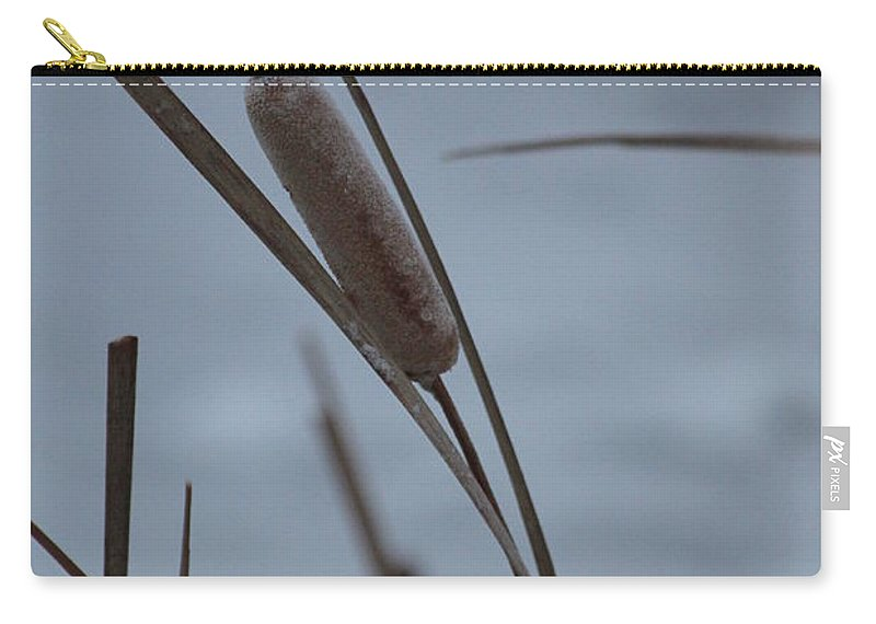 Cattail Carry-all Pouch featuring the photograph Cat Tail by Lauri Novak