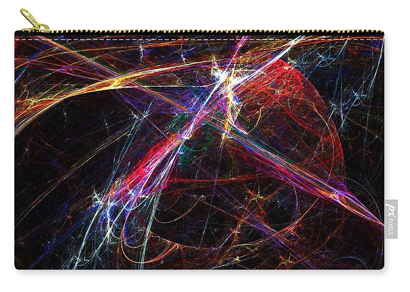 Abstract Digital Painting Carry-all Pouch featuring the digital art Cat Toy by David Lane