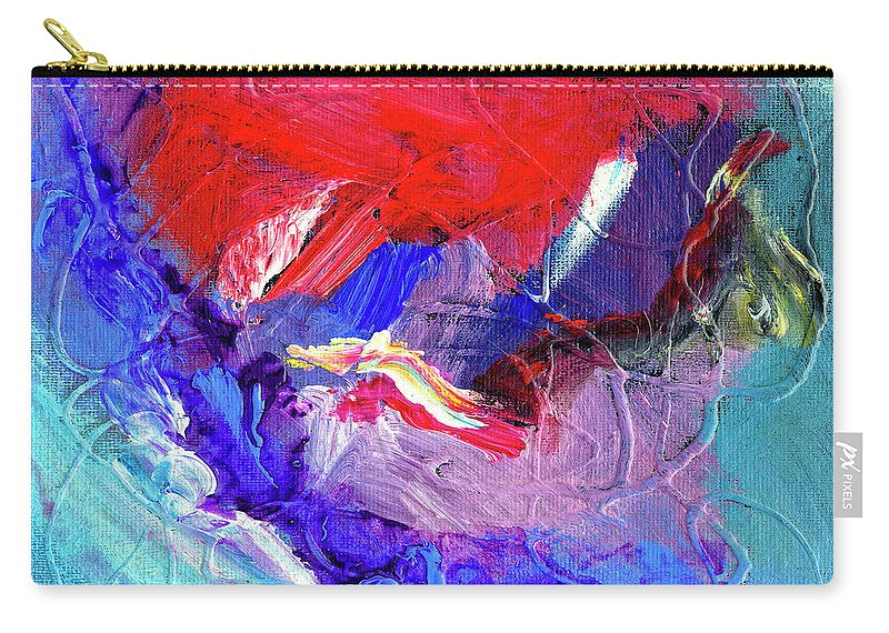 Abstract Carry-all Pouch featuring the painting Catalyst by Dominic Piperata