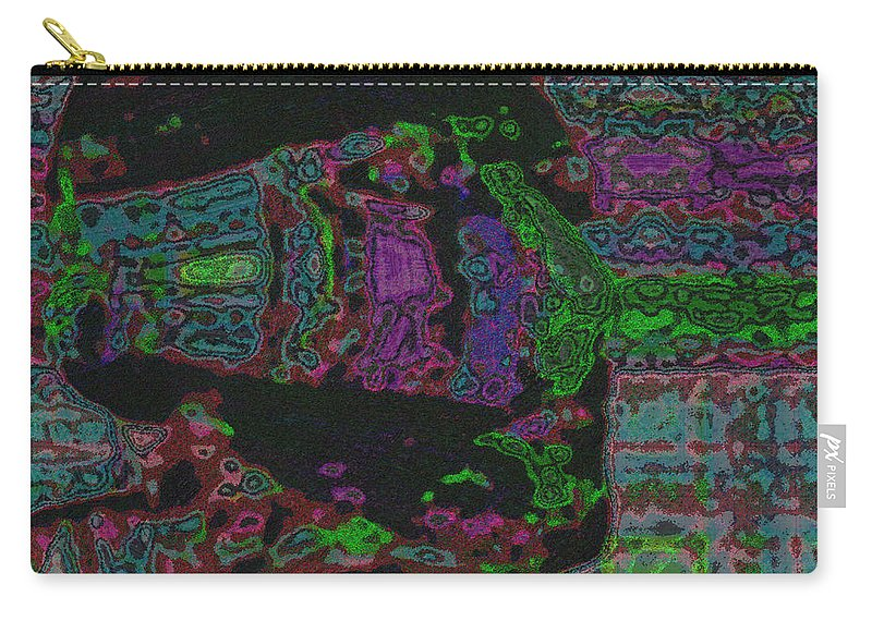Design Carry-all Pouch featuring the mixed media Catch by Mando Xocco