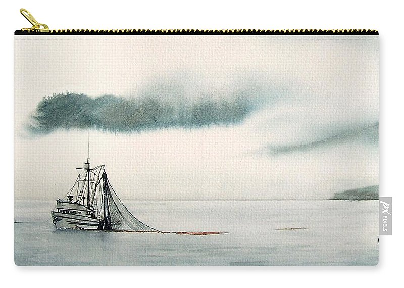 Fishing Boat Carry-all Pouch featuring the painting Catch Of The Day by Gale Cochran-Smith