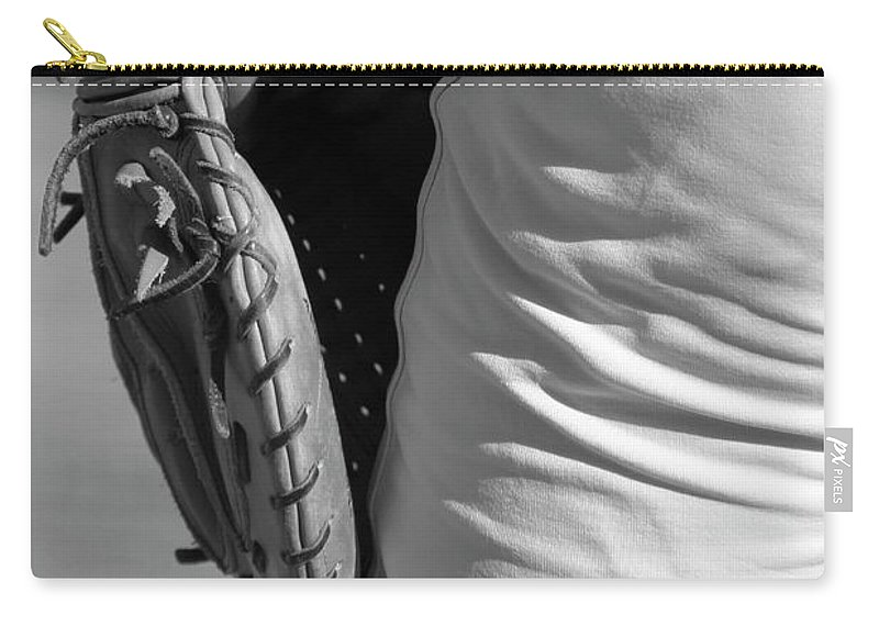 Mitt Carry-all Pouch featuring the photograph Catch Please by Laddie Halupa