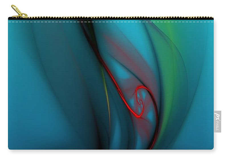 Digital Painting Carry-all Pouch featuring the digital art Catch The Wind by David Lane