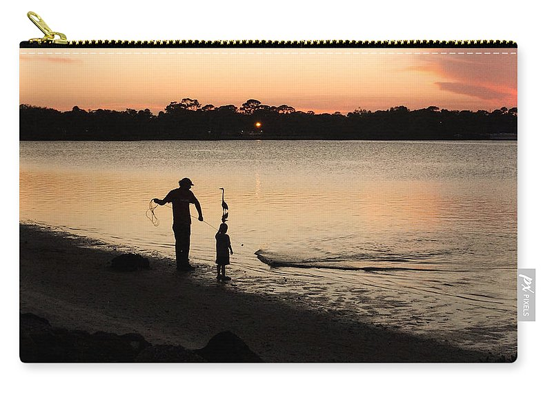 Sunset Carry-all Pouch featuring the photograph Catching Bait by Edie Ann Mendenhall