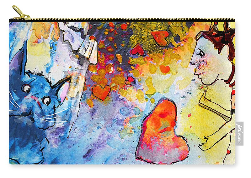 Fantasy Carry-all Pouch featuring the painting Catching Love by Miki De Goodaboom