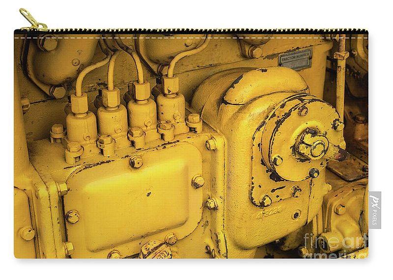 Yellow Carry-all Pouch featuring the photograph Caterpillar D2 Bulldozer 06 by Rick Piper Photography