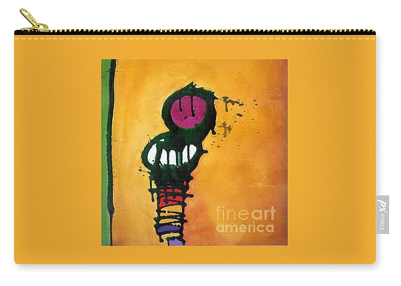 Insect Carry-all Pouch featuring the painting Caterpillar by Marlene Burns