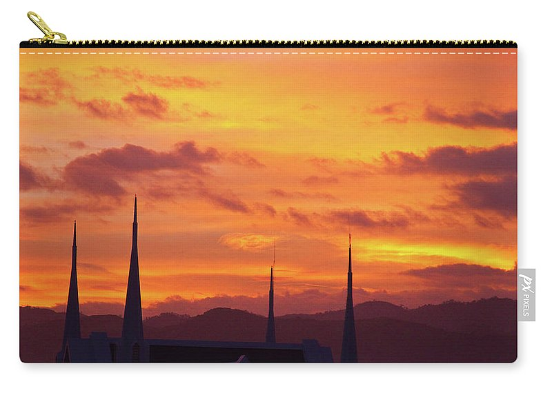 Insogna Carry-all Pouch featuring the photograph Cathedral Church Sunset by James BO Insogna
