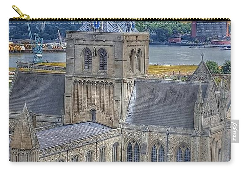Cathedral Carry-all Pouch featuring the photograph Cathedral Closeup by Zahra Majid