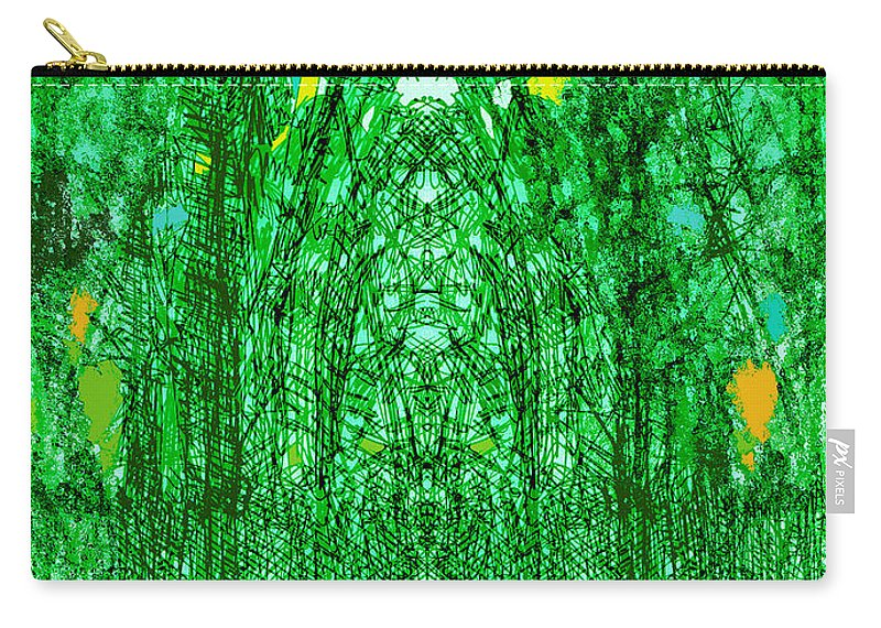 Cathedral Carry-all Pouch featuring the digital art Cathedral Of Trees by Seth Weaver