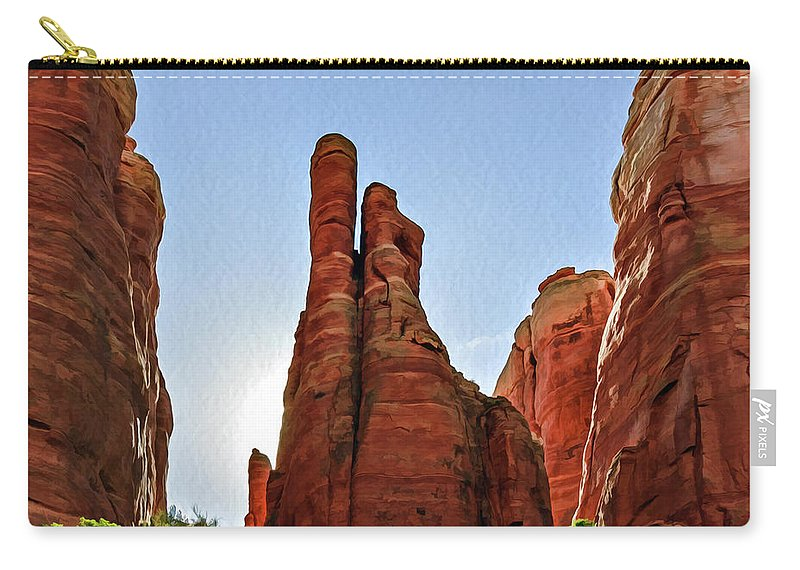 Arizona Carry-all Pouch featuring the photograph Cathedral Rock 05-155 by Scott McAllister