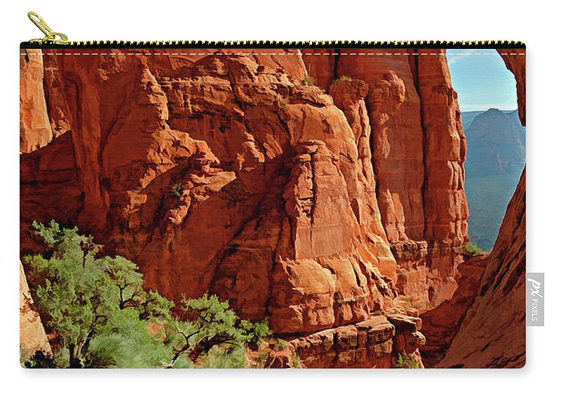 Arizona Carry-all Pouch featuring the photograph Cathedral Rock 06-124 by Scott McAllister