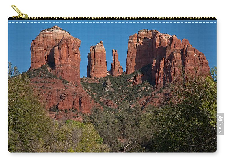 Sedona Carry-all Pouch featuring the photograph Cathedral Rock by Suzanne Stout