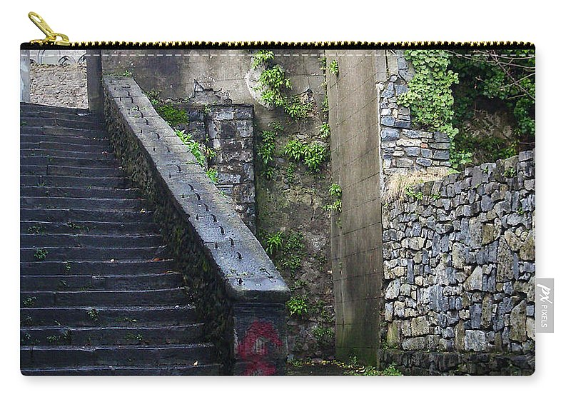 Stairs Carry-all Pouch featuring the photograph Cathedral Stairs by Tim Nyberg