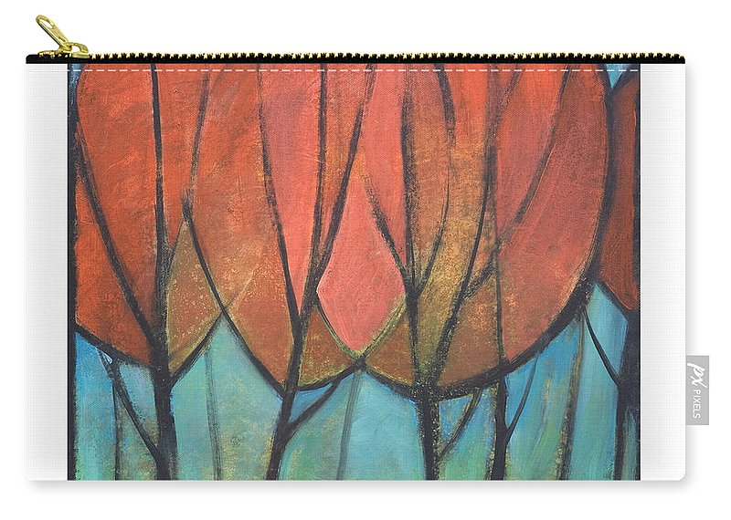 Trees Carry-all Pouch featuring the painting Cathedral by Tim Nyberg