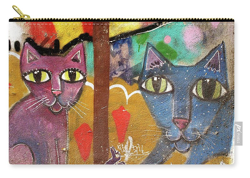 Cats Carry-all Pouch featuring the photograph Cats by Roger Muntes
