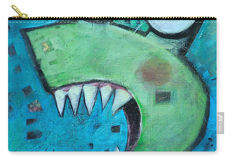 Cat Carry-all Pouch featuring the painting Catsastrophe by Tim Nyberg